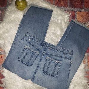 St. John Raw Hem Cropped Jeans